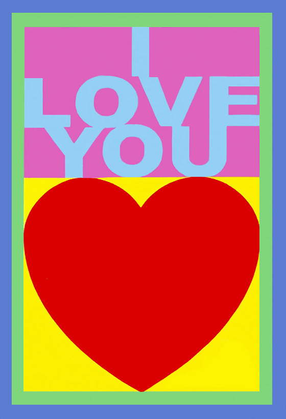 Sir Peter Blake_I Love You_MLIA